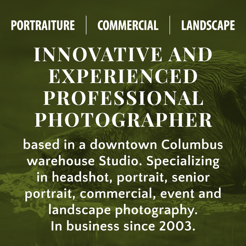Innovative and experienced professional photographer based in a downtown Columbus warehouse Studio. Specializing in headshot, portrait, senior portrait, commercial, event and landscape photography. In business since 2003.